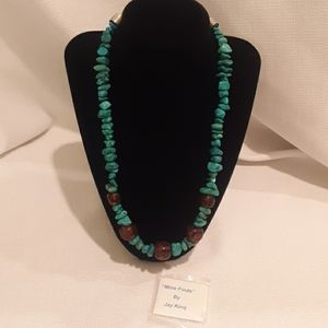 Jay King Turquoise and Amber Necklace